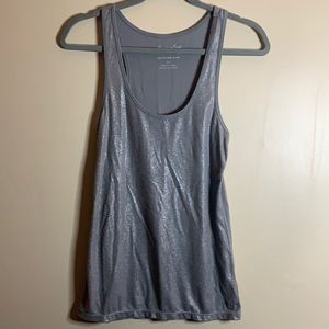 American Eagle Sparkly Grey Tank Top Small